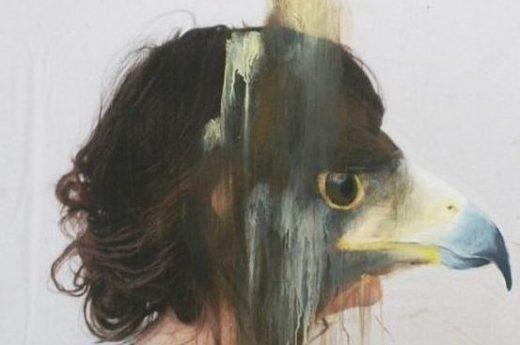 Charlotte Caron, eagle, fotografia e acrilico, 90x90 cm, 2011