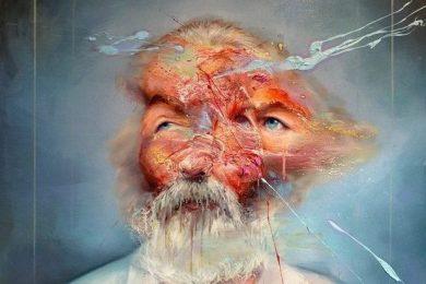 Mathieu Laca, American Poet (after a portrait of Walt Whitman), oil on linen, 155cmX120cm, 2015, private collection