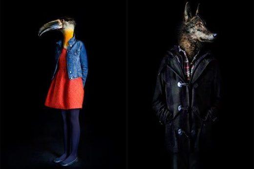 Miguel Vallinas, 'Toucan – Portrait Number Eighteen' e 'Wolf – Portrait Number Twenty Eight', stampa fotografica opaca, 70 x 50 cm