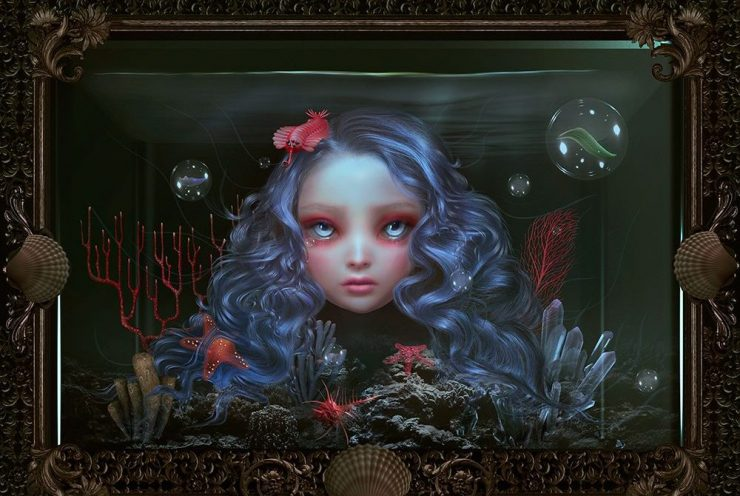Natalie Shau, Iris, arte digitale