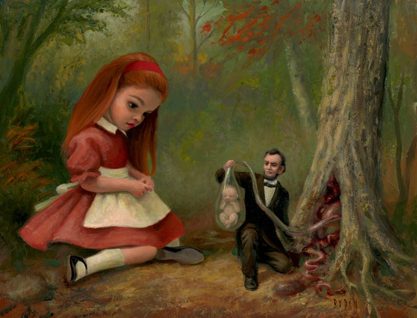 Mark Ryden - 61 Fetal Trapping in Northern California, 2006
