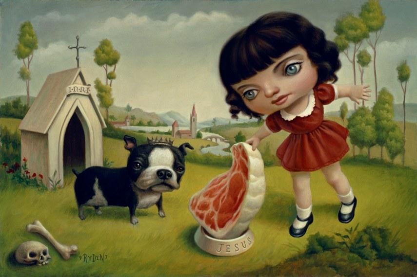"""Mark Ryden, """"A Dog Named Jesus"""", 1997"""
