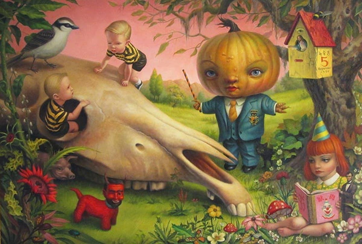 """Mark Ryden, """"The Pumpkin President"""", 2008"""